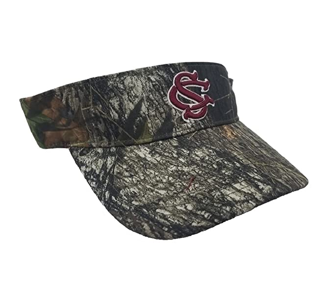 new style 4c1c3 6b44d Image Unavailable. Image not available for. Color  Collegiate Headwear  National Cap Camo Visor University of South Carolina Gamecocks
