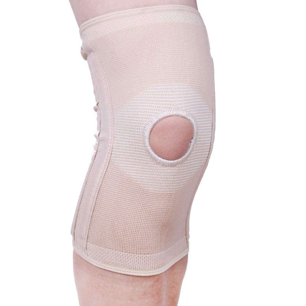 HQCC Sports Running Men and Women Knee Pads/S Code/Suitable for Leg Circumference 30.5-36.8cm / Beige (Size : S)