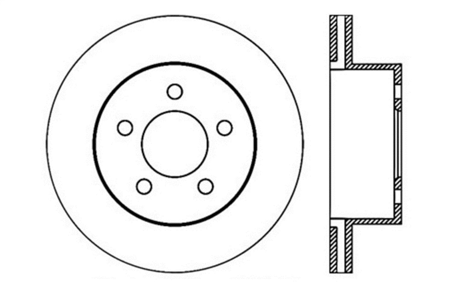 StopTech 128.67045L Sport Cross Drilled Brake Rotor; Front Left