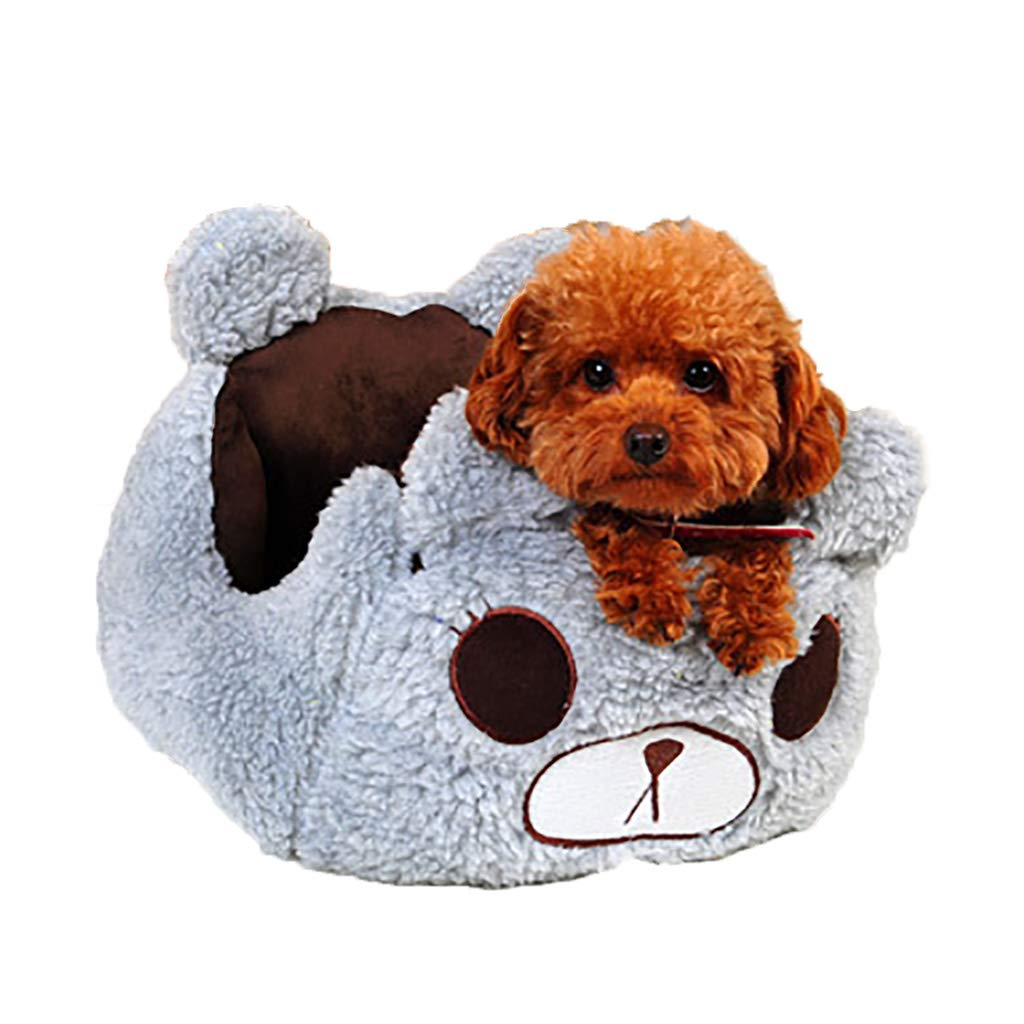 BROWN L BROWN L WANGXIAOLIN Pet Bed, Open Nest, Indoor Small And Medium Dog House, Cat Litter, Removable And Washable, Warmth In All Seasons (color   BROWN, Size   L)