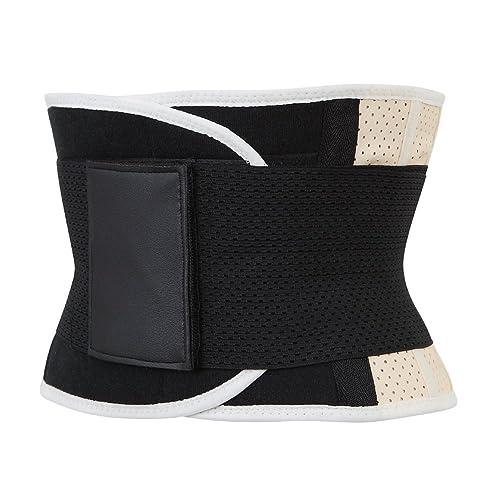 Grebrafan Latex Rubber Belt Waist Trainer Cincher Underbust Corset Body Shaper Shapewear