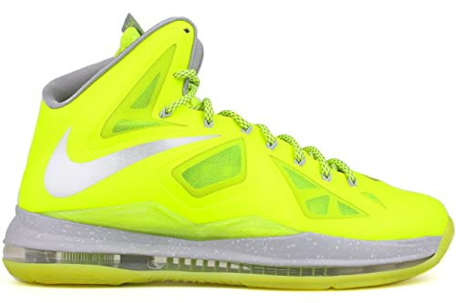 newest 00b35 c634a Nike Lebron X Color Volt Worf Grey-Pure Platinum 541100-700 Size
