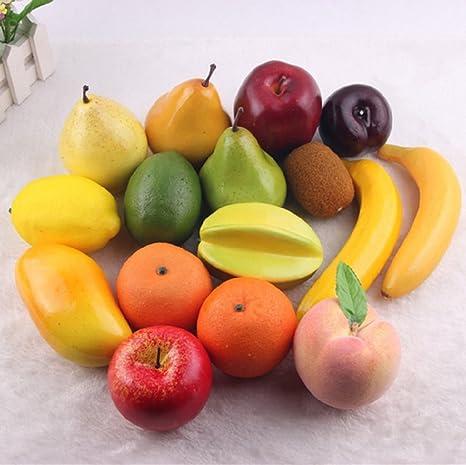 16 Pcs 1 Conjunto Artificial Plastico Realista Buscando Frutas Mixtas Simulacion Plastico Frutas Decorativas Mostrar Creativa Home