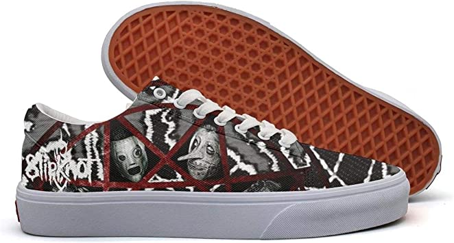 OUCUI Young Men Slipknot-Style-Logo-Symbol-American-Heavy-Metal-Band Walking Shoes for Mens