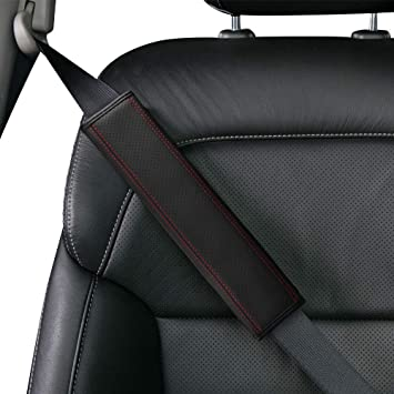 Seat Belt Shoulder Strap Covers Harness Pad for Car//Bag JUSTTOP 2-Pack Universal Car Seat Belt Pads Cover for A More Comfortable Driving Black