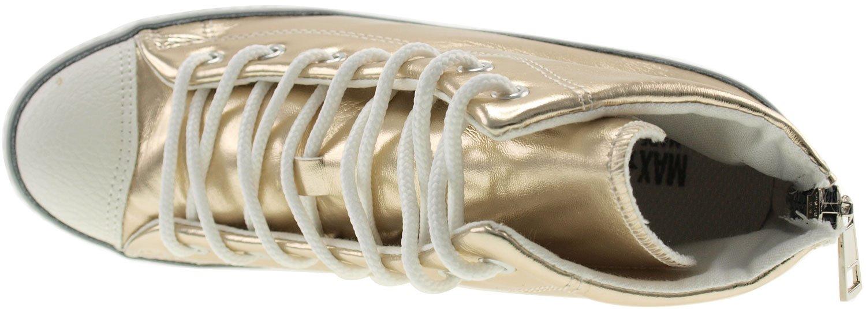 ac6841af0916 ... Maxstar Maxstar Maxstar Women s 777 Back Zipper PU High Wedge Heel  Sneakers B00XTILGQC 9 B(