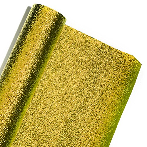 Gold Cracked Ice Textured Metallic Decorating Paper Roll