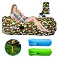 Lonelyfish Inflatable Lounger - Waterproof & Leak-Resistant Portable Air Sofa Hammock Ideal Couch For Parties, Pools, Fishing, Traveling, Backyard, Park, Camping, Beach, Support Weight up to 551lbs