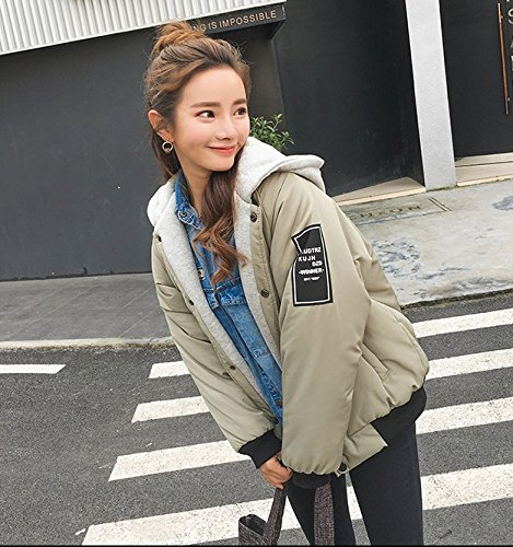Jacket Of green Winter Coat Down Loose Female Holiday Pieces Xuanku Thin Two Hooded Short Jacket BwOqnTv