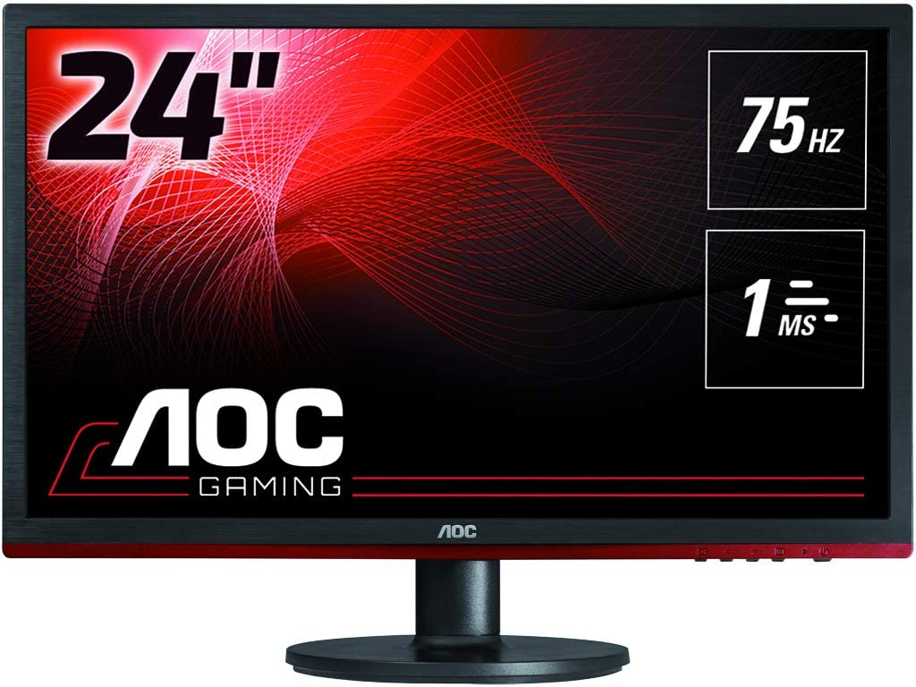 VGA, DVI, DisplayPort, 1920 x 1080, 75 Hz, 1ms Reaktionszeit Monitor AOC G2260VWQ6 54,6 cm 21,5 Zoll schwarz