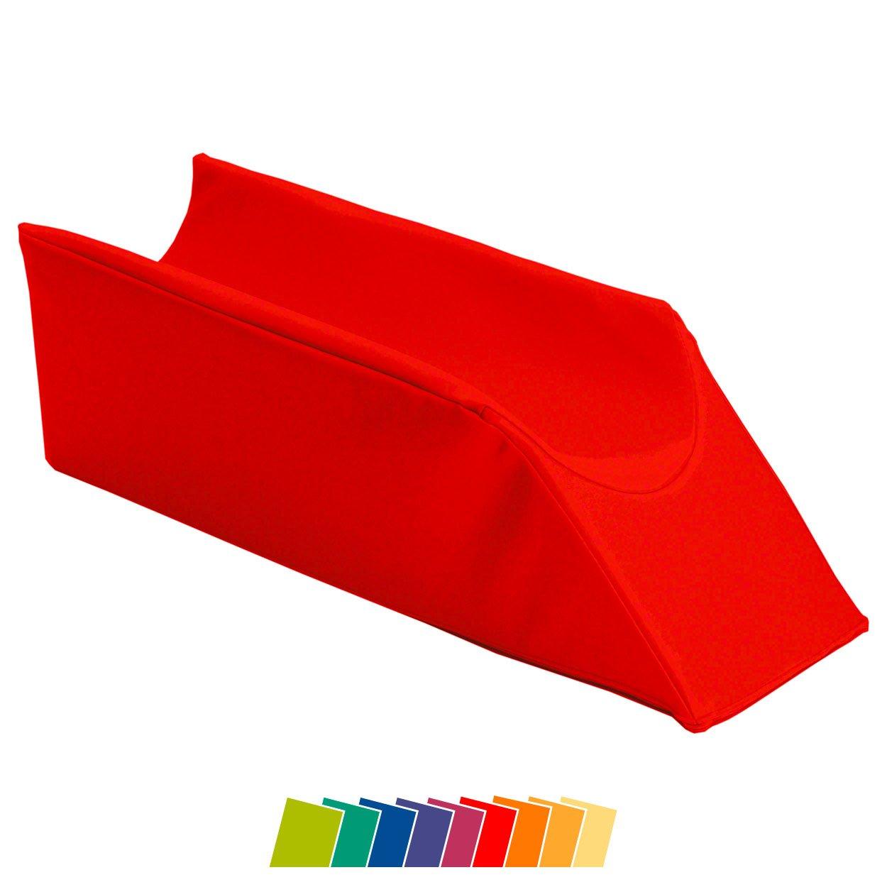 Lagerungskeil mit Beinmulde Lymphdrainagekeil Lymphkeil Lagerungskeil, 75x20 cm Sport-Tec