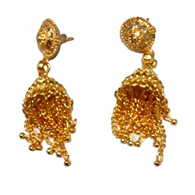 Buy Gold Tone Jhumka Earring Set Antique Indian Traditional