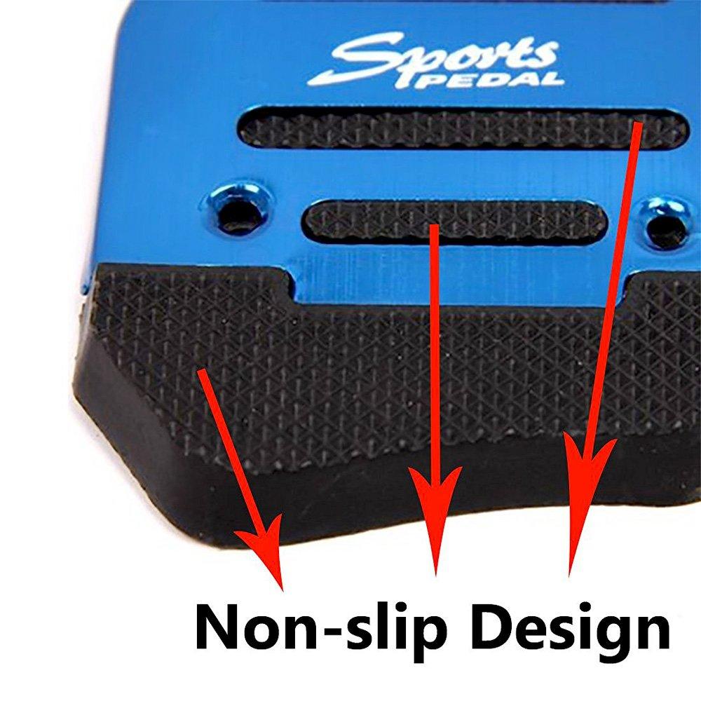 Fly5D 3 Pcs Manual Car Auto Non Slip Sports Aluminium Alloy ...