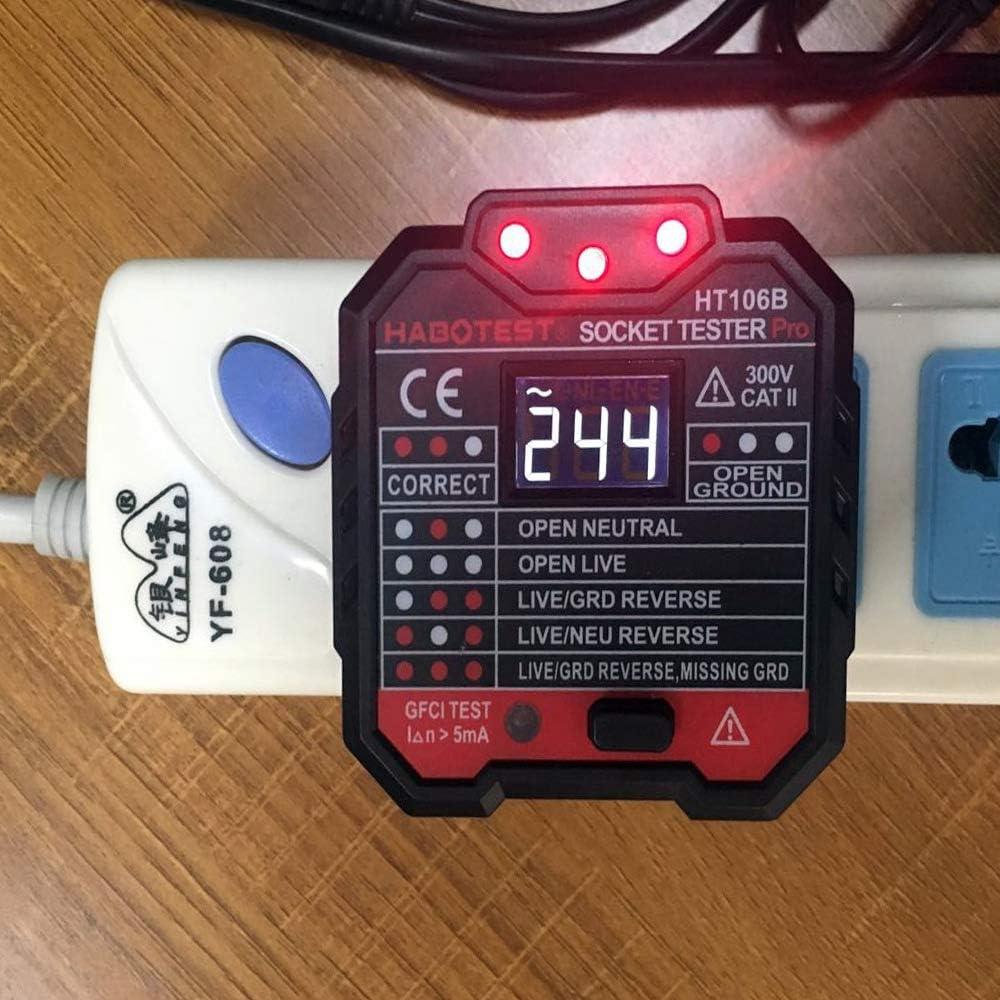 Circuito Probador de salida Zócalo HT106B Enchufe de Pared Detector de tensión de polaridad Interruptor