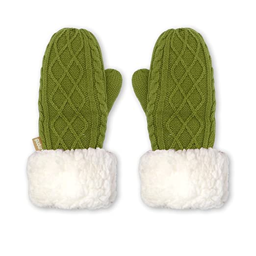 Pudus cable knit green adult one size cozy winter mittens dfc115e03140
