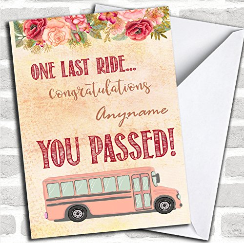 You Passed Exams One Last Ride Vintage Personalized Good Luck Card