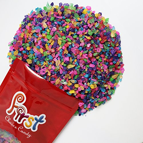 - FirstChoiceCandy Assorted Rock Candy Crystals 2 Pound Resealable Bag