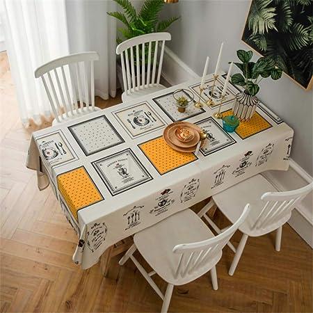 SONGHJ Mantel de Lino de algodón Manteles de Tela para el hogar Rectangular Moderno Mantelería Decoración para el hogar A01 140x160cm: Amazon.es: Hogar