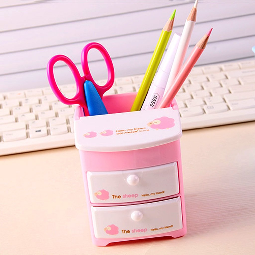 Soporte de pluma de oficina Organizador de escritorio / Escritorio pluma ordenado / Titular de la pluma Escritorio / de múltiples funciones del organizador/ Portalápices / Sistema de Escritorio / Organizador de Oficina ( Color : Rosa  , Size : A paragraph ) aae57b