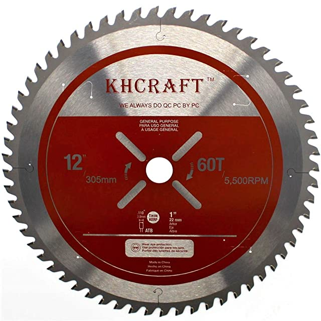 KHCRAFT Laser-Cut Miter Saw Blade