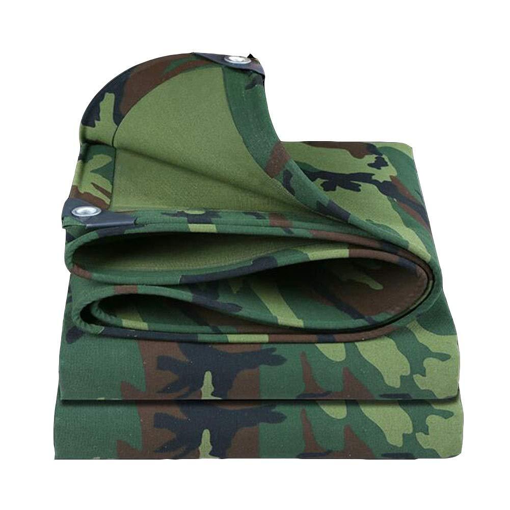 DALL 防水シート防水頑丈なキャンバス防水シート500 G/M 2厚い0.7 Mm防塵防雨布屋外 (Color : 緑, Size : 5×10m) 緑 5×10m