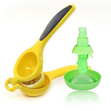 Xcellent Global aluminio exprimidor de limones y juego de limón Citrus pulverizador – pulverizador de limón
