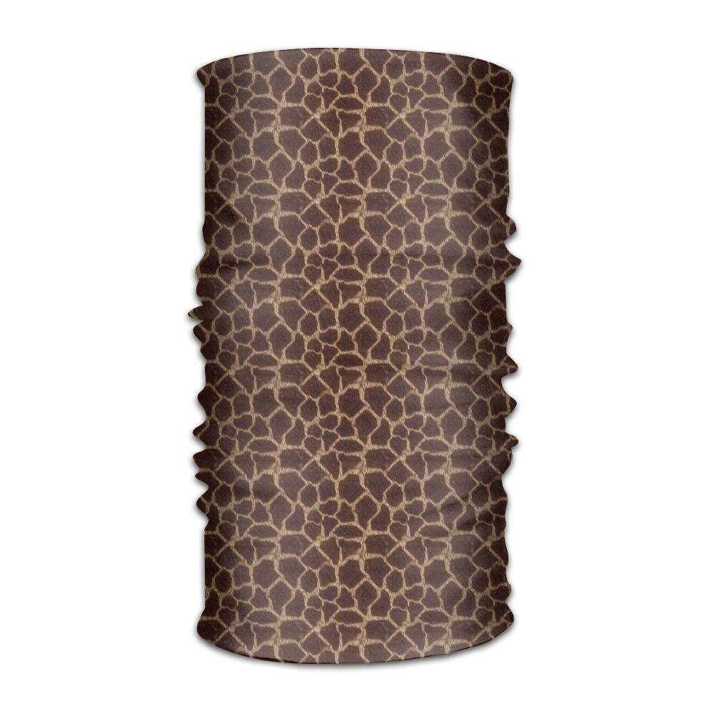 Owen Pullman Multifunctional Headwear Giraffe Print Head Wrap Elastic Turban Sport Headband Outdoor Sweatband