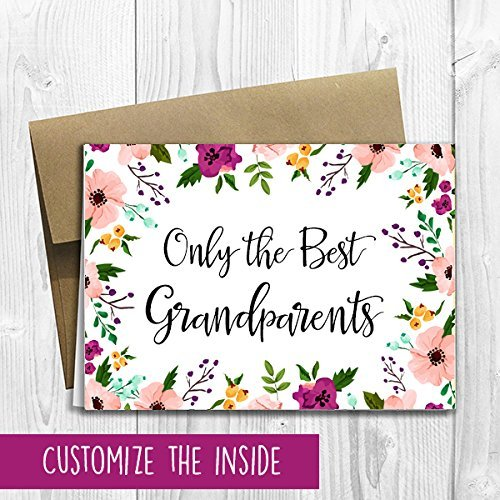 Amazon pregnancy announcement greeting card 5x7 size only pregnancy announcement greeting card 5x7 size only the best grandparents get promoted to m4hsunfo