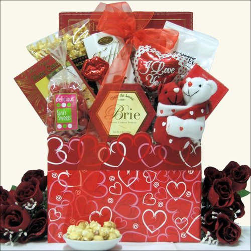 Hugs & Kisses: Gourmet Wedding Anniversary Gift Basket