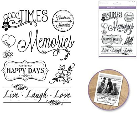 ShopForAllYou Stamping /& Embossing A Toast is in Order Sheild Crest Celebrate Wooden Rubber Stamp
