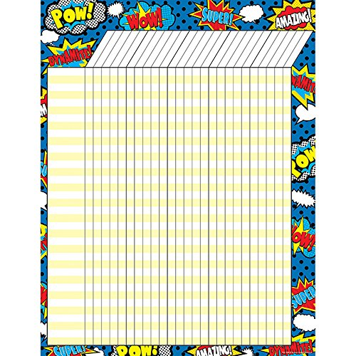 Incentive Charts For Teachers - Teacher Created Resources Superhero Incentive Chart (7568)