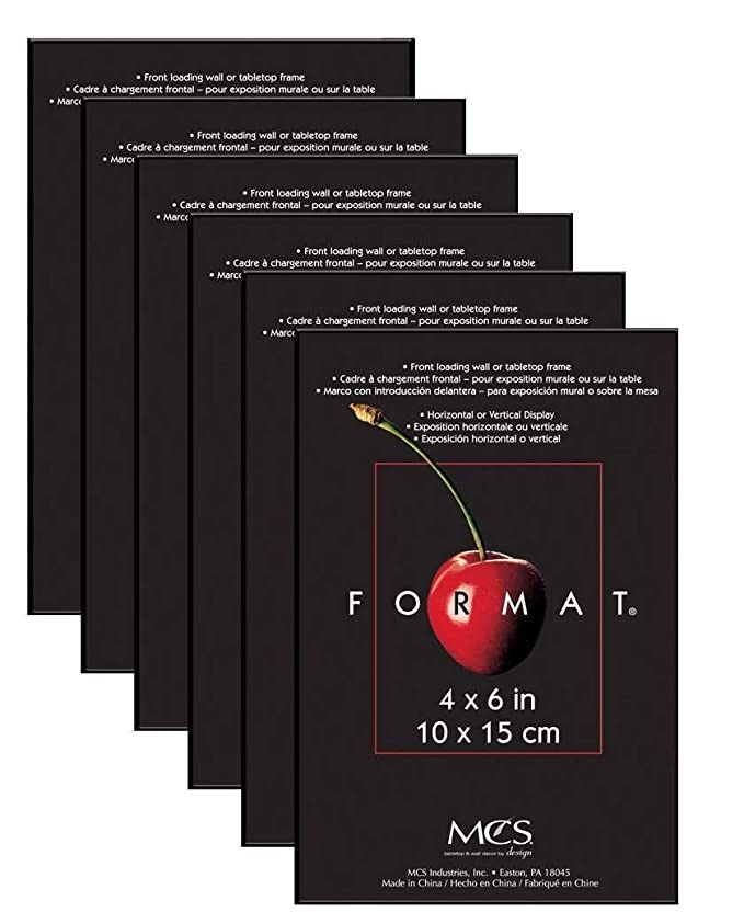 Amazon.com - MCS Format Frame, 8 by 10-Inch, Black, 6-Pack -