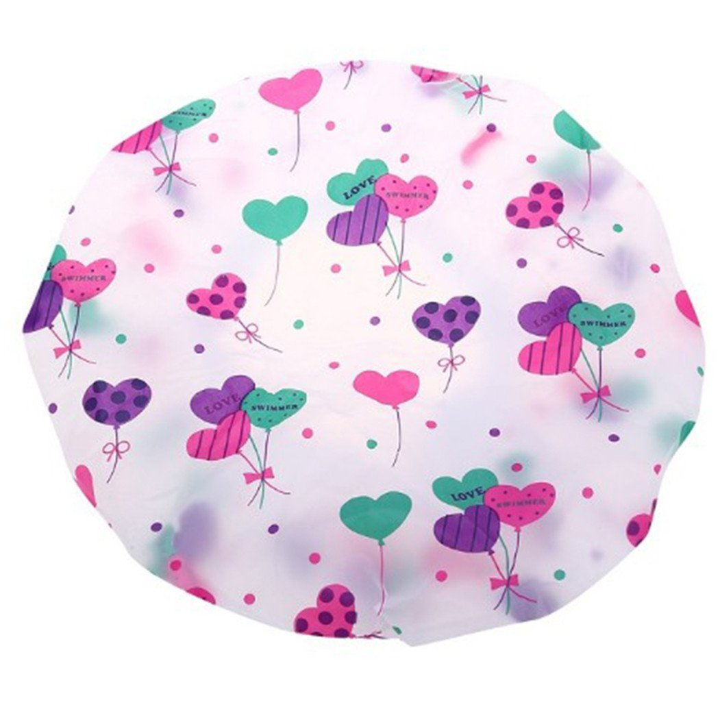LnLyin Beautiful Waterproof Shower Cap Kitchen Bath Cap