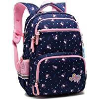 Kids Girls School Backpack with Chest Strap Princess Cute Big Elementary Bookbag (Small, Royalblue)