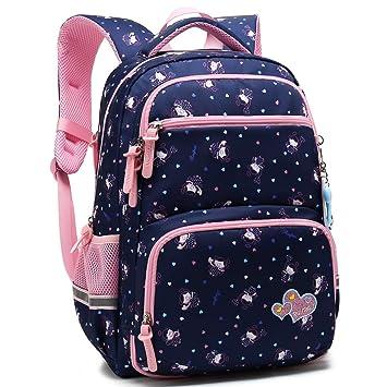 45af0b68ade Kids Girls School Backpack with Chest Strap Princess Cute Big Elementary  Bookbag (Medium, Royalblue)