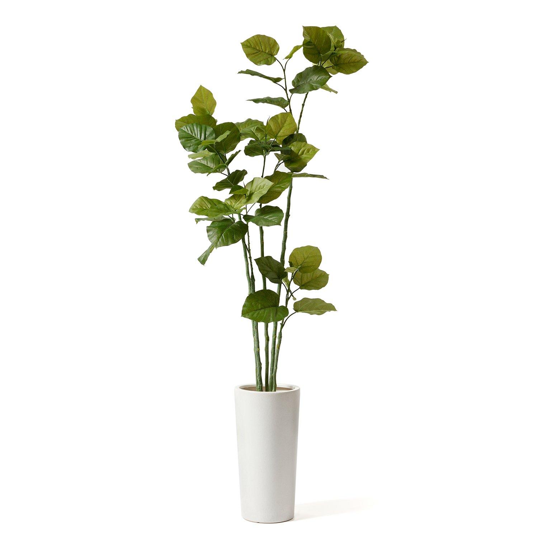 GREENPARK ウンベラータ プランター H50 エコストーン 造花 フェイクグリーン B01N0IJVDF