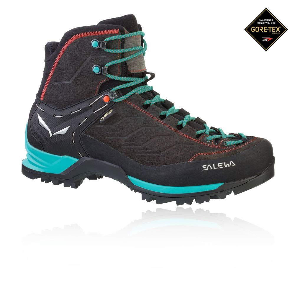 Salewa Women's MTN Trainer MID GTX-W Mountaineering Boot, Magnet/Viridian Green, 7.5 D US by Salewa