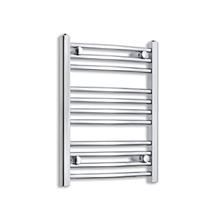 600 mm High 1200 mm Wide Flat White Heated Towel Rail Radiator Bathroom Kitchen