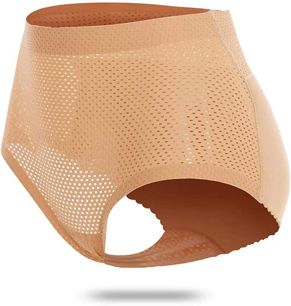 Majurphy Women's Padded Panties Mid Waist Underwear Seamless Butt Lifter Hip Enhancer Panty Hip Pads Shapewear
