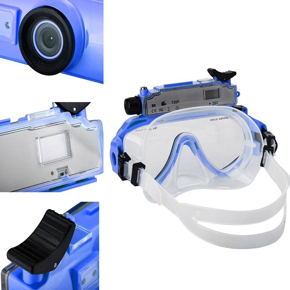 DARONGFENG Diving Mask with Underwater Camera,Waterproof Video Recorder by DARONGFENG (Image #6)