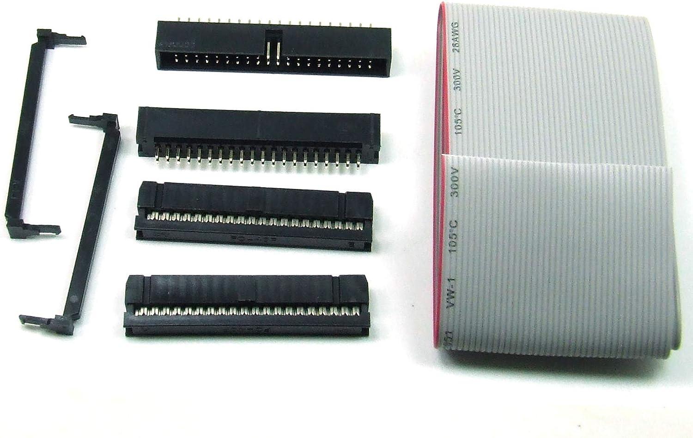5 pcs x IDC 2.54 mm Connecteur Câble Ruban 40 broches #a1939
