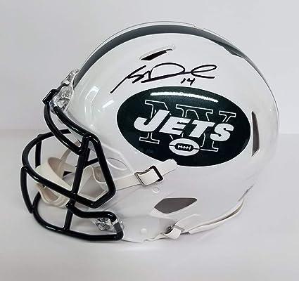 bb0e7b9bb1b Sam Darnold New York Jets Quarterback Autographed Speed Authentic Proline  Helmet. auth.