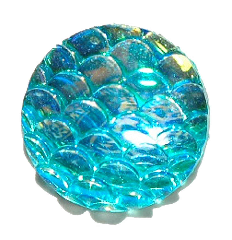 AQUA BLUE IRIDESCENT MERMAID FISH DRAGON SCALES TIE PIN TACK (180)