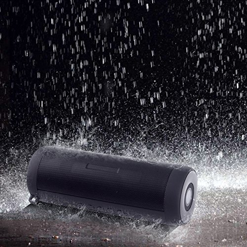 ELlight Portable Wireless Bluetooth 4.0 Outdoor Shower Speakers Double Loudspeaker Subwoofer IPX5 Waterproof Led Flashlight Built-in Mic FM Radio