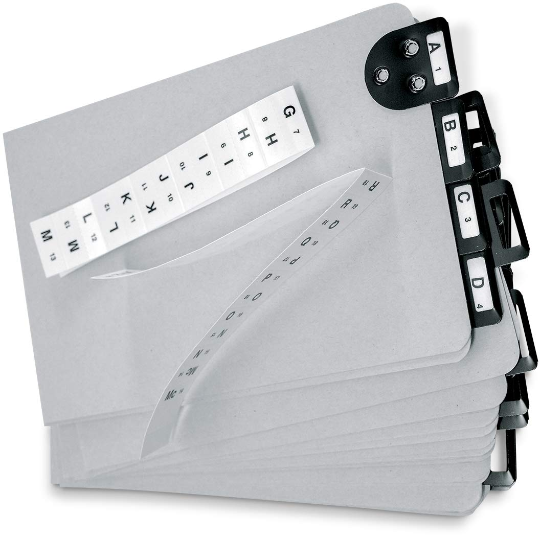 Martin Yale 14254 Posting Tray Index Set, 25 Press-Board Dividers for 6'' x 9'' Sheets, Includes A-Z Categories and Blank Inserts, Metal Tab Index by Martin Yale