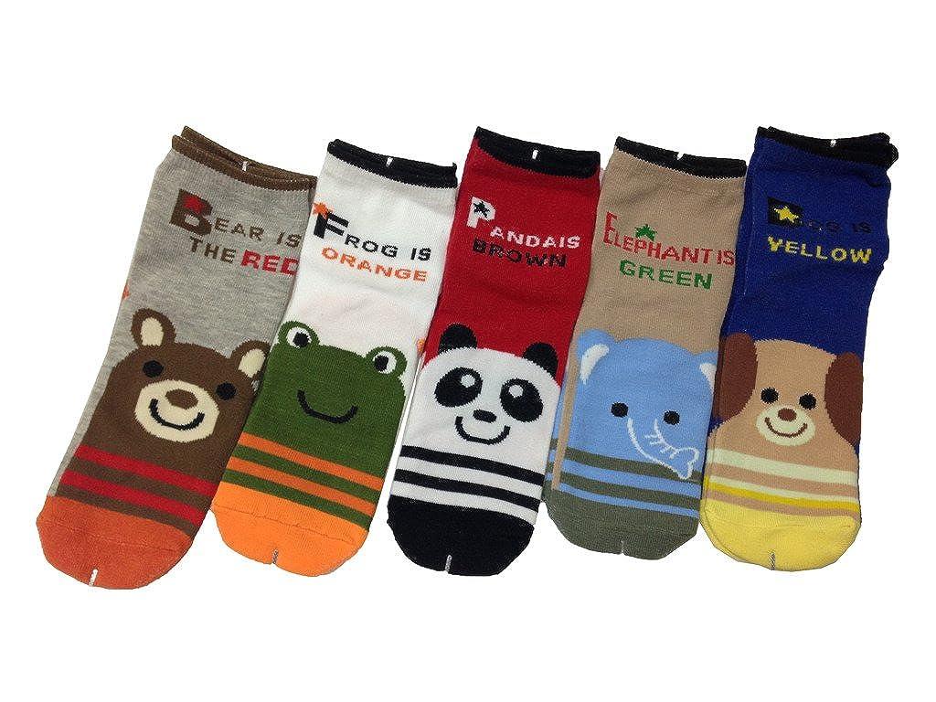 JT-Amigo Pack de 5 Pares de Calcetines de algodón para Niños: Amazon.es: Ropa y accesorios