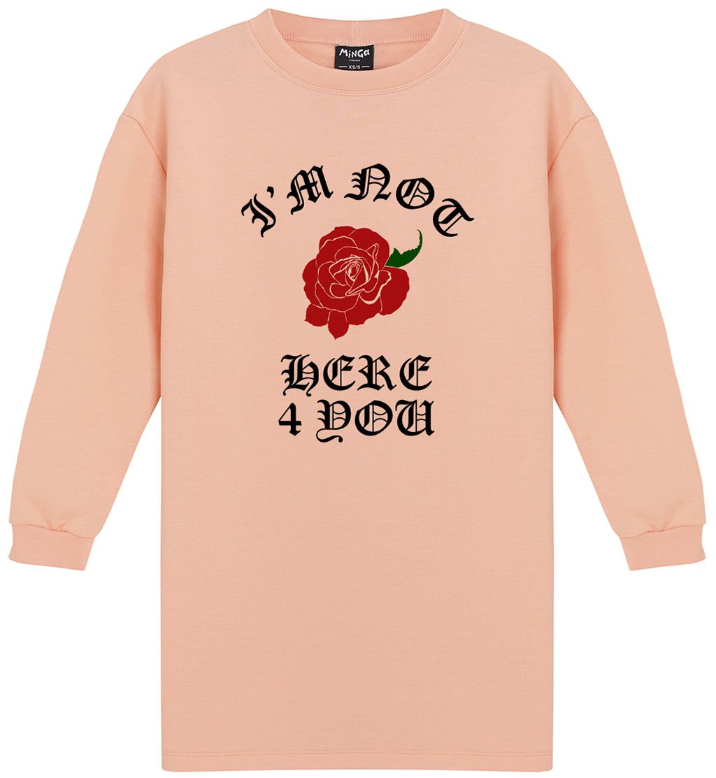 Not Here 4 You Dress Sweater Jumper Womens Tumblr Grunge Rose Goth Kawaii at Amazon Womens Clothing store: