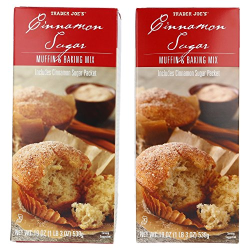 Cheese Muffin - Trader Joe's Cinnamon Sugar Muffin & Baking Mix - Includes Cinnamon Sugar Topping 19 oz (2 PACK)