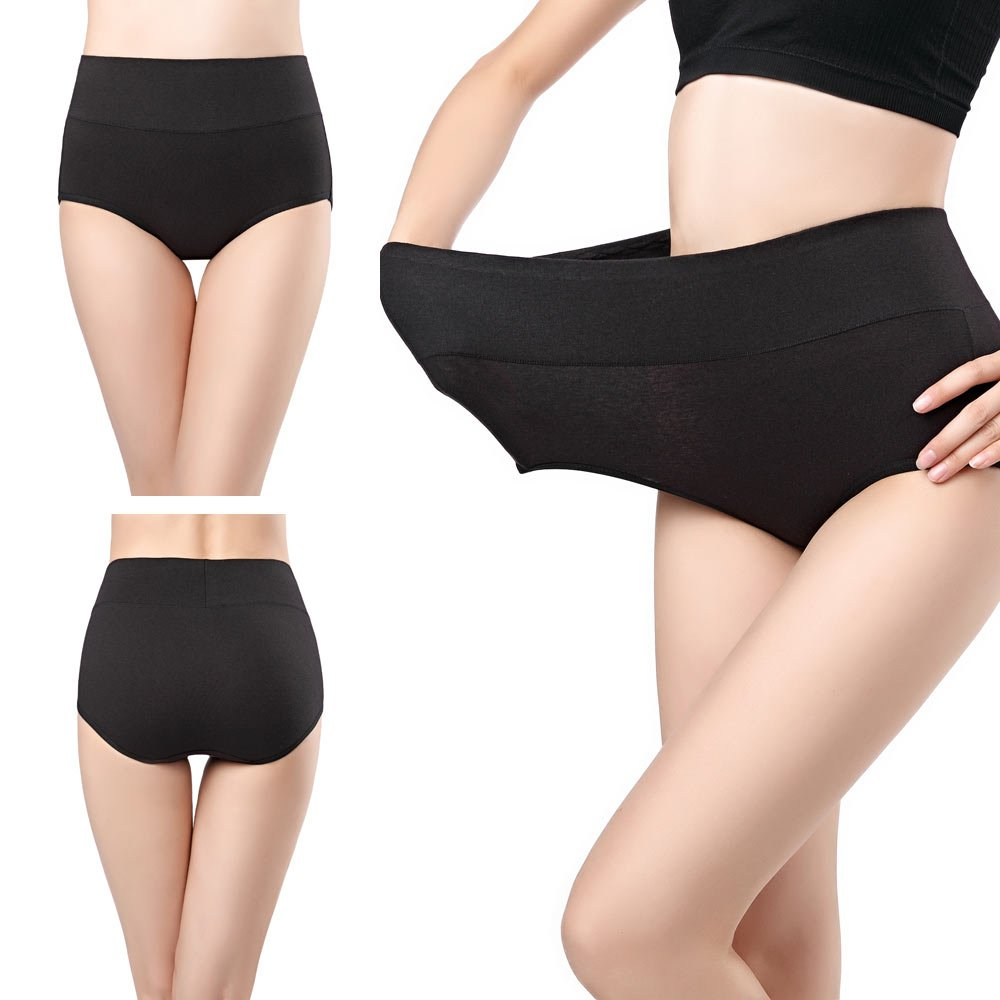 wirarpa Womens Cotton Underwear 4 Pack High Waist Briefs Light Tummy Control Ladies Comfort Stretch Panties Underpants Size XL,Multicoloured by wirarpa (Image #3)