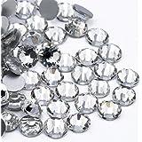 Crystal AB/Crystal Flatback Glass Rhinestones Glue Fix (ss20 (4.8mm) 1440 pcs, Crystal)